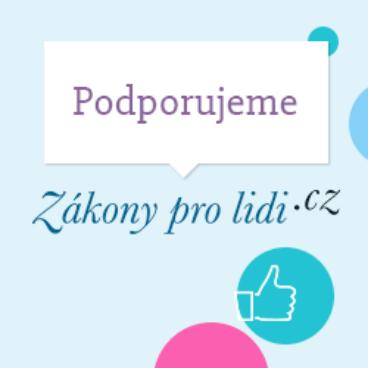 Podporujeme Zákony pro lidi.cz